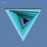 Fondo abstracto del vector del triángulo para su texto Fotos de archivo