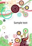 Fondo abstracto del vector en verde Imágenes de archivo libres de regalías