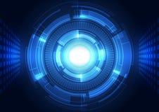 Fondo abstracto del vector Estilo futurista de la tecnología Fotografía de archivo libre de regalías