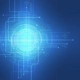 Fondo abstracto del vector Estilo futurista de la tecnología Foto de archivo libre de regalías