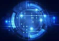 Fondo abstracto del vector Estilo futurista de la tecnología Imagen de archivo libre de regalías