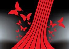 Fondo abstracto del vector - mariposa Foto de archivo