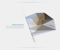 Fondo abstracto del vector. Modelo poligonal Imágenes de archivo libres de regalías