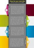 Fondo abstracto del vector para el folleto o el cartel Foto de archivo libre de regalías
