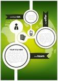 Fondo abstracto del vector para el folleto o el Web site Imagen de archivo