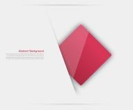Fondo abstracto del vector. Rojo cuadrado Fotografía de archivo libre de regalías