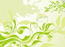 Fondo abstracto del verano del verde del vector ilustración del vector
