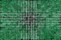 Fondo abstracto del verde de la tecnología Imágenes de archivo libres de regalías