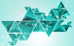 Fondo abstracto del verde del triángulo Imagen de archivo libre de regalías