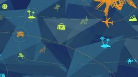 Fondo abstracto del viaje y del turismo ilustración del vector