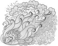 Fondo abstracto dibujado mano del zendoodle Fotos de archivo libres de regalías