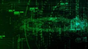 Fondo abstracto digital de alta tecnología con el engranaje de la tecnología Foto de archivo libre de regalías
