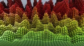 Fondo abstracto - ejemplo 3D Imagen de archivo
