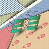 Fondo abstracto el 23 de febrero, con los rastros de bertz - vector eps10 Foto de archivo libre de regalías