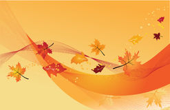 Fondo abstracto en colores del otoño Imagen de archivo
