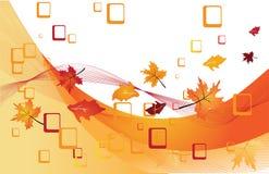 Fondo abstracto en colores del otoño Foto de archivo libre de regalías