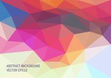 Fondo abstracto en el estilo poligonal Formato A4 Foto de archivo