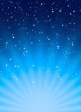 Fondo abstracto en estilo azul del espacio Imagenes de archivo
