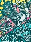 Fondo abstracto en estilo de la pintada ilustración del vector