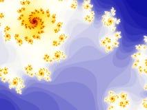 Fondo abstracto en fractal bajo Foto de archivo libre de regalías