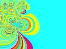 Fondo abstracto en fractal bajo Fotos de archivo