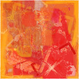 Fondo abstracto en naranja con la cruz ilustración del vector