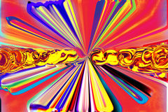 Fondo abstracto en pinturas coloridas Foto de archivo libre de regalías