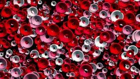 Fondo abstracto en rojo y blanco stock de ilustración