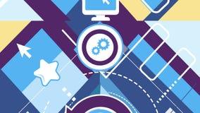 Fondo abstracto en un tema de redes y de la comunicación sociales almacen de metraje de vídeo