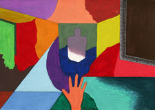 Fondo abstracto (en una galería) Imagenes de archivo