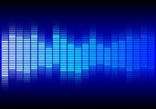 Fondo abstracto - equalizador azul stock de ilustración