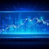 Fondo abstracto financiero y del negocio con la carta del gráfico del palillo de la vela Concepto del vector de la inversión del  Imagenes de archivo