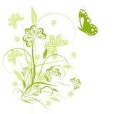 Fondo abstracto floral Imágenes de archivo libres de regalías