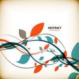 Fondo abstracto floral del otoño mínimo Fotografía de archivo libre de regalías