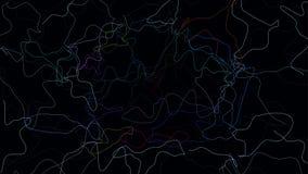 Fondo abstracto freeform ondulado rizado ilustración del vector