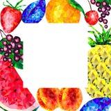 Fondo abstracto, fruta del marco, diversos triángulos de la fruta ilustración del vector