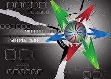 Fondo abstracto futurista con la flecha libre illustration