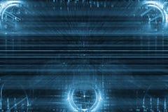 Fondo abstracto futurista de la tecnología stock de ilustración