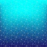 Fondo abstracto geométrico con la línea y Dots Patterns conectados Fotos de archivo