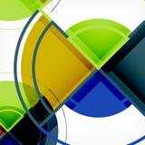 Fondo abstracto geométrico de los círculos creativos con el efecto 3d libre illustration