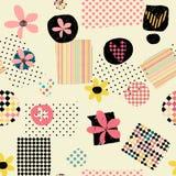 Fondo abstracto geométrico del vintage del cuadrado lindo colorido inconsútil del grunge, ilustración del vector