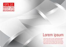 Fondo abstracto geométrico gris y color plata del vector, diseño moderno libre illustration