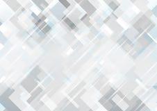 Fondo abstracto geométrico mínimo de la tecnología del gris azul stock de ilustración