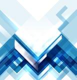 Fondo abstracto geométrico moderno azul Imagen de archivo