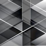 Fondo abstracto geométrico moderno negro Fotos de archivo libres de regalías