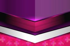 Fondo abstracto geométrico moderno púrpura Imágenes de archivo libres de regalías