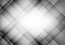 Fondo abstracto geométrico negro y gris del vector con el espacio de la copia Fotografía de archivo libre de regalías