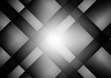 Fondo abstracto geométrico negro y gris del vector con el espacio de la copia, ejemplo del vector Imagenes de archivo