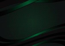 Fondo abstracto geométrico negro y verde del vector con el espacio de la copia con el diseño moderno del espacio de la copia para Imagen de archivo
