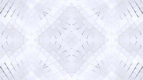 Fondo abstracto geométrico polivinílico bajo blanco como un vitral o efecto móvil del caleidoscopio en 4k Animación del lazo 3d almacen de video